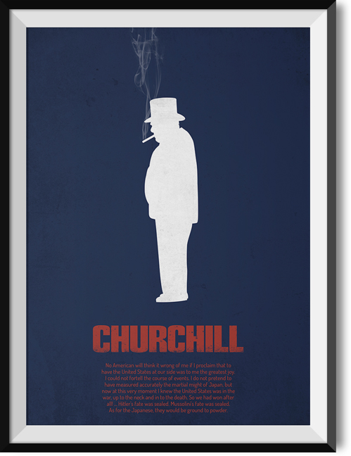 "Churchill ""Americans"" quote poster"