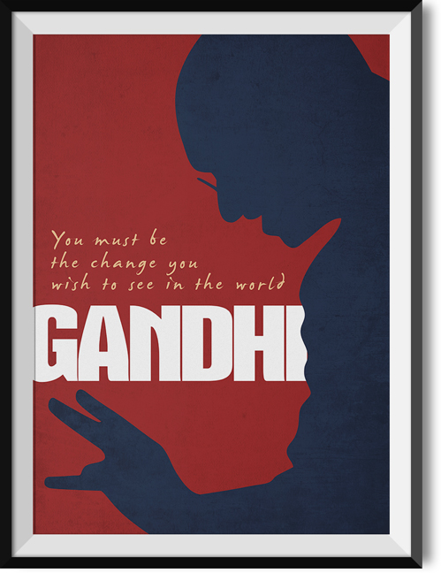 "Gandhi ""Change"" quote poster"