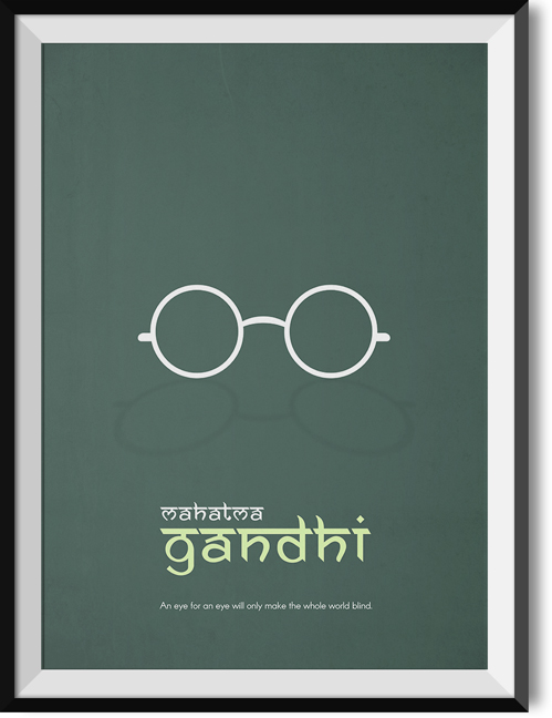 "Gandhi ""Eye for an eye"" quote poster"