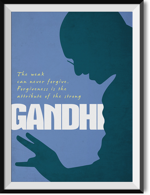 "Gandhi ""Forgiveness"" quote poster"