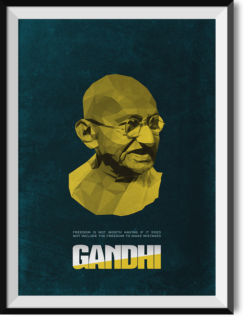 "Gandhi ""Freedom"" quote poster"