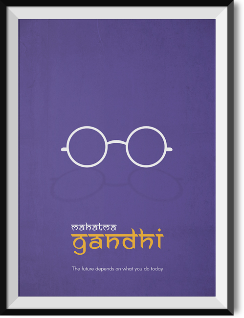 "Gandhi ""Future"" quote poster"