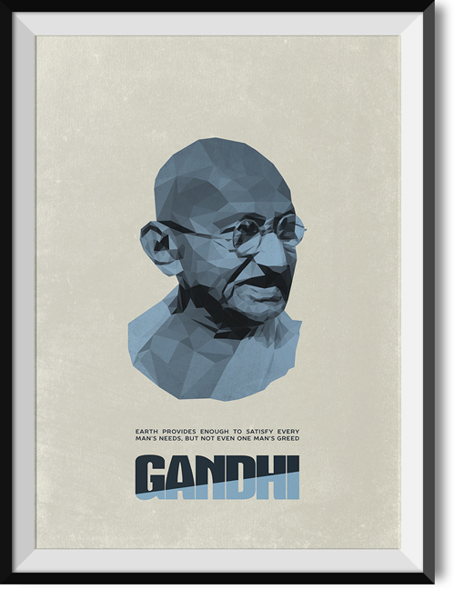 "Gandhi ""Greed"" quote poster"