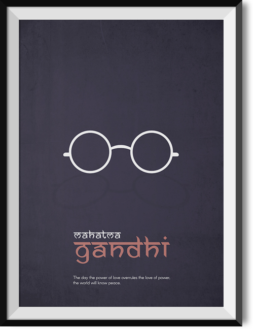 "Gandhi ""Power"" quote poster"