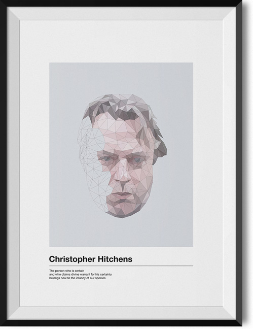 "Christopher Hitchens ""Divine warrant"" quote poster"