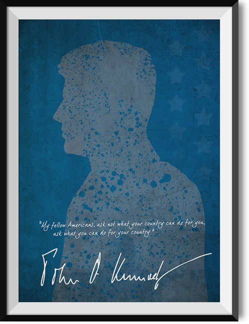 "Kennedy ""Fellow americans"" quote poster"