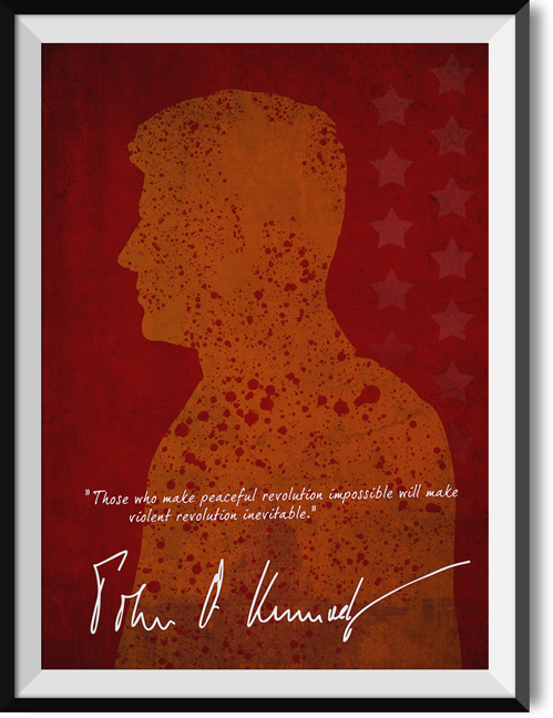 "Kennedy ""Revolution"" quote poster"