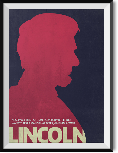 "Lincoln ""Adversity"" quote poster"
