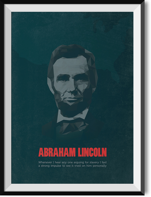 "Lincoln ""Slavery"" quote poster"