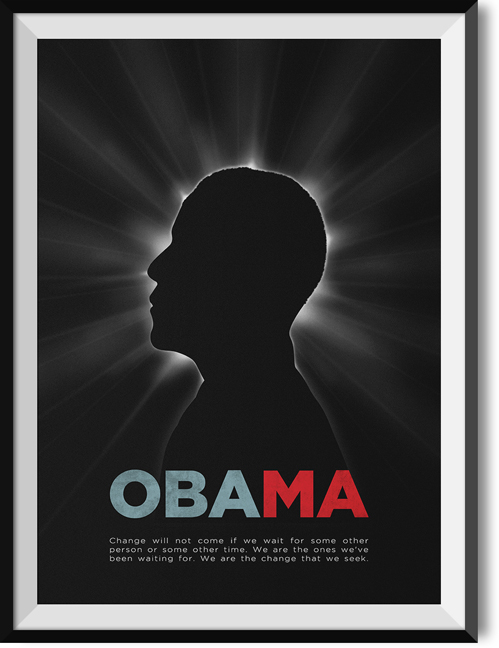 "Obama ""Change"" quote poster"