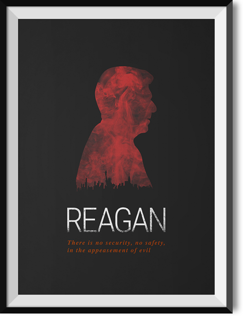 "Reagan ""Evil"" quote poster"