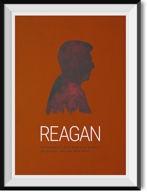 "Reagan ""First duty"" quote poster"
