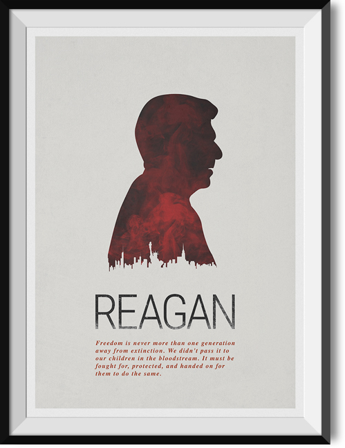 "Reagan ""Freedom"" quote poster"