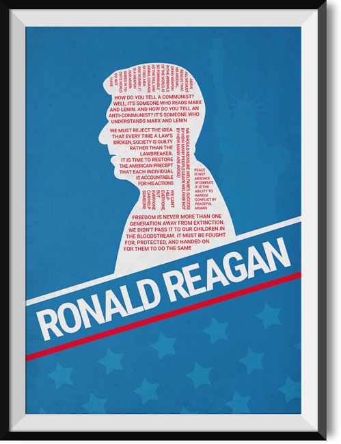 "Reagan ""Multi"" quote poster"