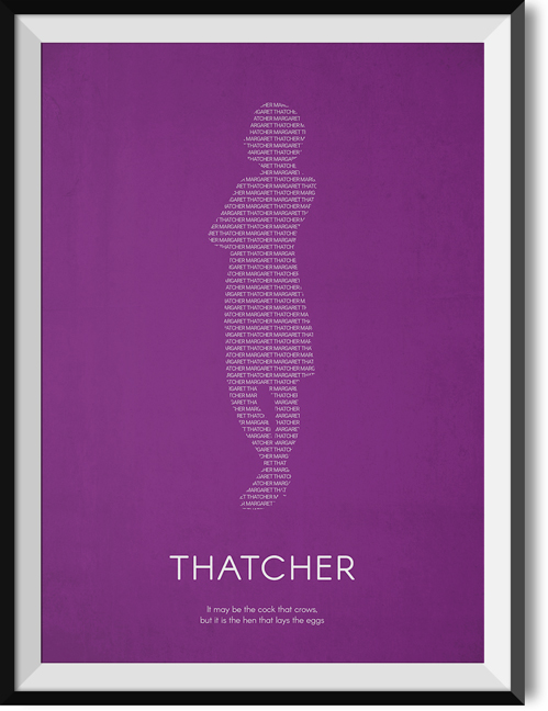 "Thatcher ""Eggs"" quote poster"