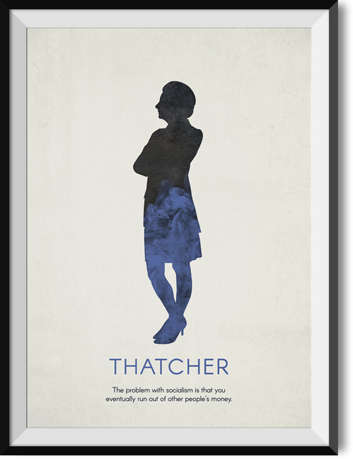 "Thatcher ""Socialism"" quote poster"