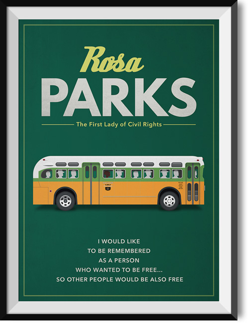 "Rosa Parks ""Be free"" quote poster"