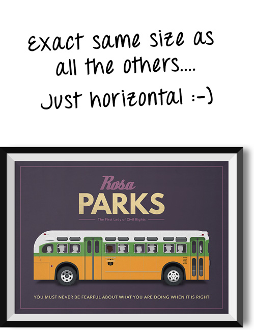 "Rosa Parks ""When you're right"" quote poster"