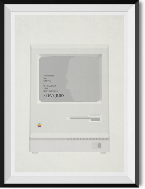 "Steve Jobs ""Don't loose faith"" quote poster"