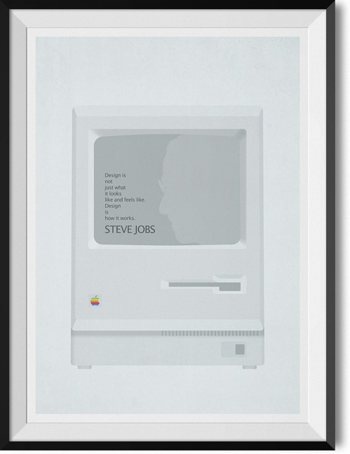 "Steve Jobs ""How it works"" quote poster"